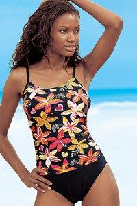 LASCANA Black Tropical Swimsuit