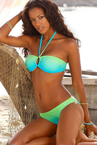 KangaROOS Turquoise Bandeau Bikini
