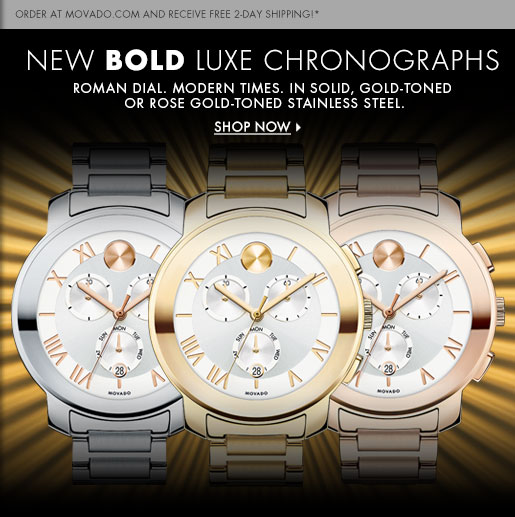 NEW BOLD LUXE CHRONOGRAPHS - SHOP NOW
