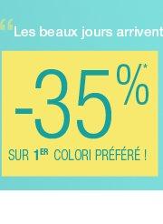 -30%* sur 1er colori préféré !