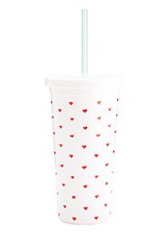 Ban.do Tumbler With Straw - Supercute Hearts