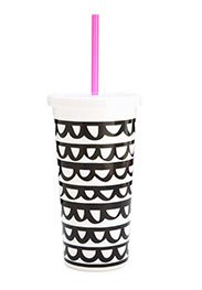 Ban.do Tumbler With Straw - Frills