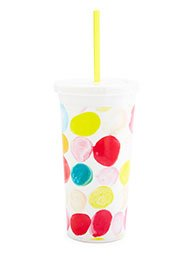 Ban.do Tumbler With Straw - Dottie