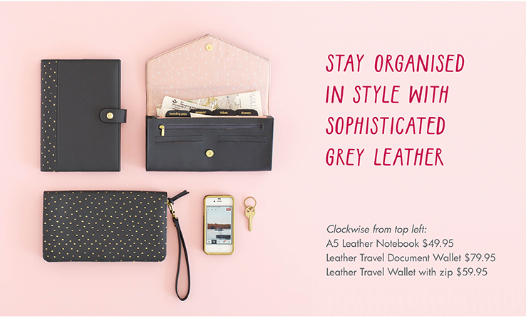 STAY ORGANISED IN STYLE WITH SOPHISTICATED GREY LEATHER