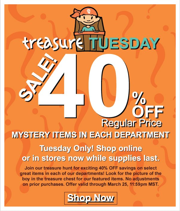 Treasure Tuesday! 40% Off Selected NEW Summer 1 Fashions - Today Only + It's Time to Redeem Kids Kash Coupons