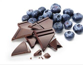 blueberries and dark chocolate