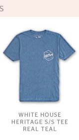 WHITE HOUSE HERITAGE S/S TEE - REAL TEAL