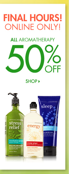 Aromatherapy – 50% Off
