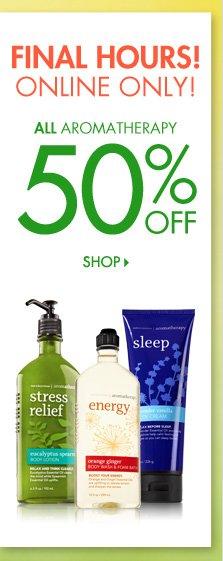 Aromatherapy – 50% Off