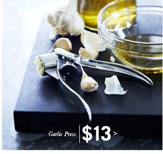 Garlic Press $13