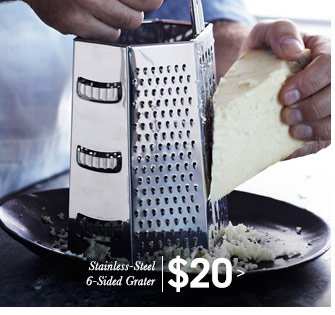 Stainless-Steel 6-Sided Grater $20