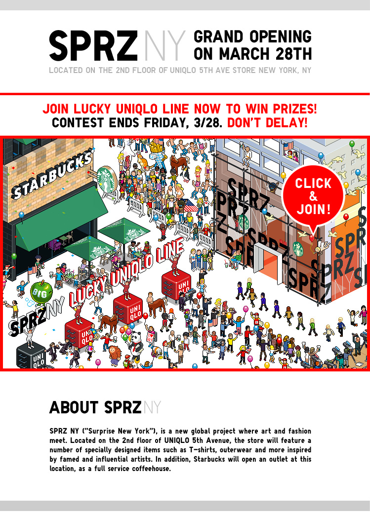 SPRZ NY - GRAND OPENING ON MARCH 28TH