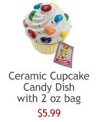 Ceramic Cupcake Dish with beans