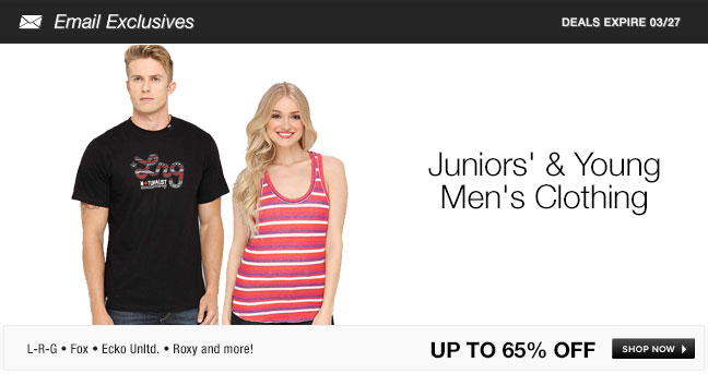 Juniors and Young Mens Clothing