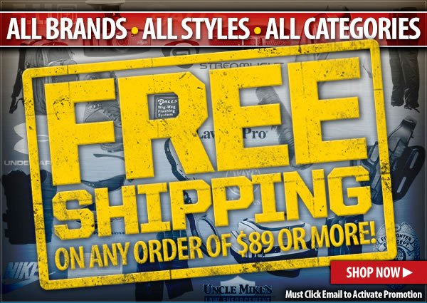 Free Shipping On Orders Of 89 dollars or More