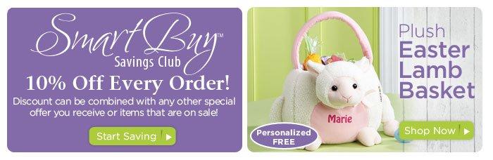 SmartBuy Saving Club &  Plush Lamb Easter Tote