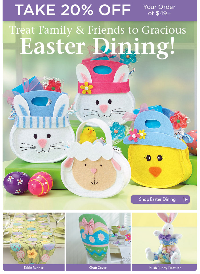 Make Easter Dining Special and SAVE 20%