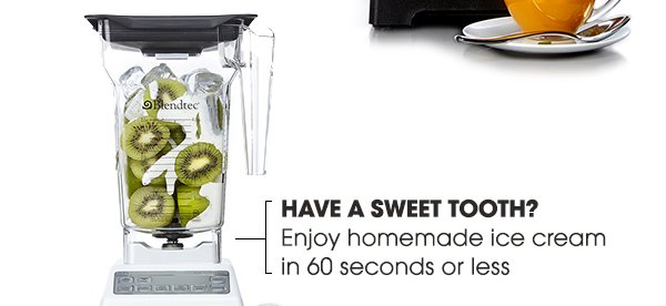 HAVE A SWEET TOOTH? | Enjoy homemade ice cream in 60 seconds or less