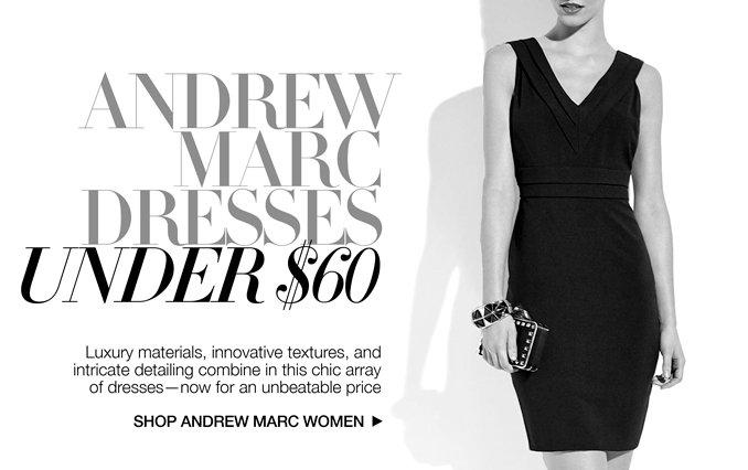 Shop Andrew Marc Dresses Under $60 - Ladies