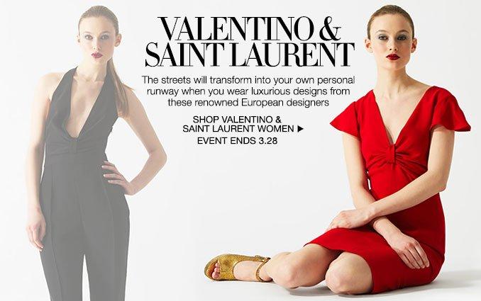 Shop Valentino & Saint Laurent - Ladies