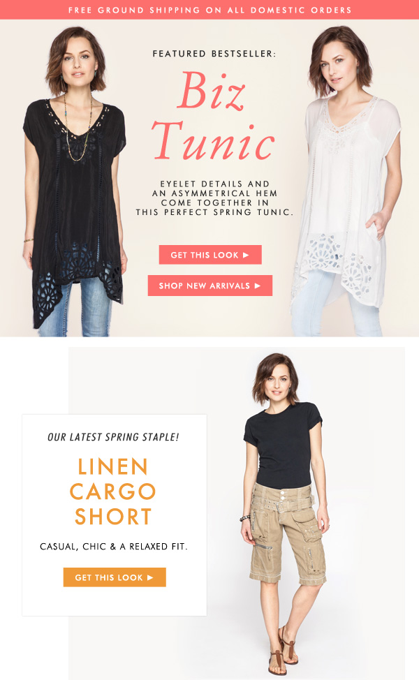 Shop our featured bestseller Biz Tunic and more New Arrivals.