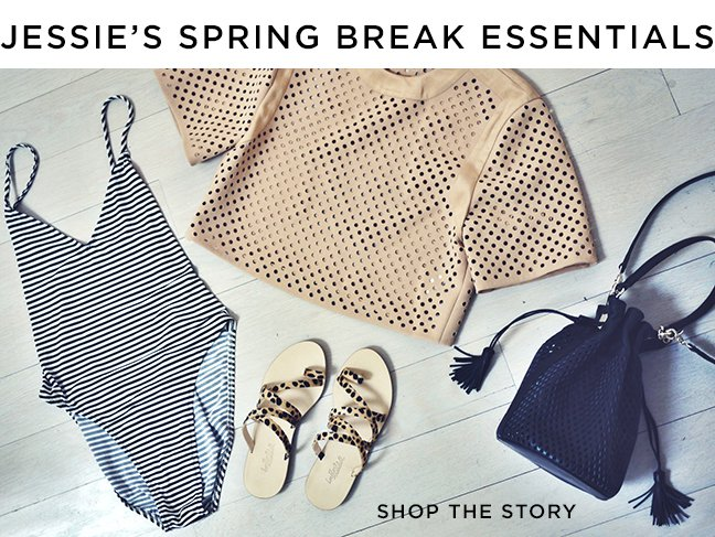 Shop Jessie's Spring Break Essentials Online At The Official Loeffler Randall Store www.LoefflerRandall.com