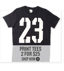 Print Tees 2 For $25