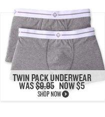 Twin Pack Underwear Now $5