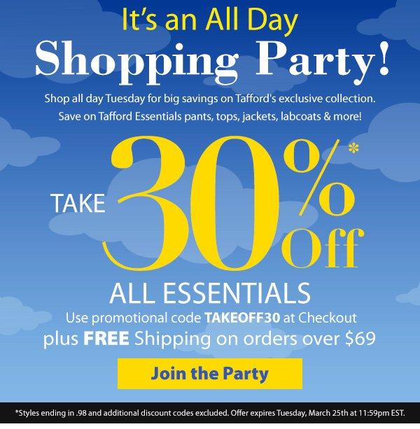 30% Off Tafford Essentials - Shop Now