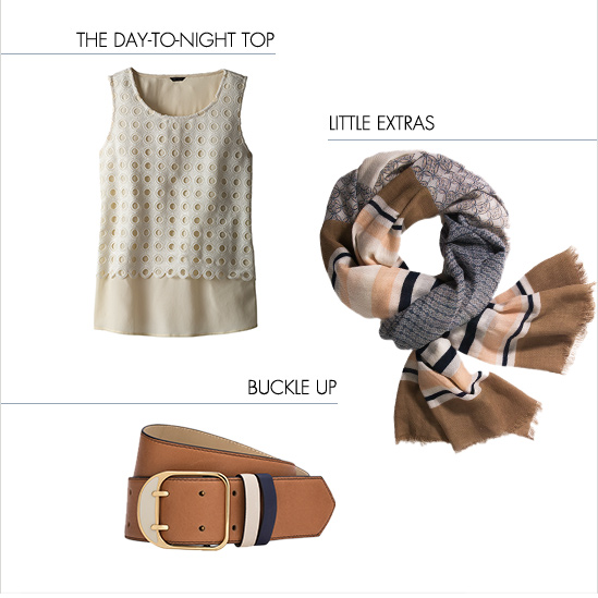The Day-To-Night Top  Little Extras  Buckle Up