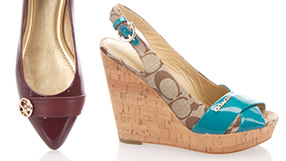 Shoes by Michael Kors and Tory Burch