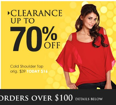 Shop Clearance Tops - up to 70% OFF