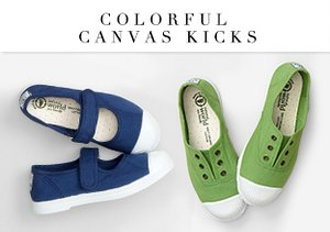Colorful Canvas Kicks