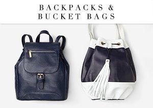 Backpacks & Bucket Bags