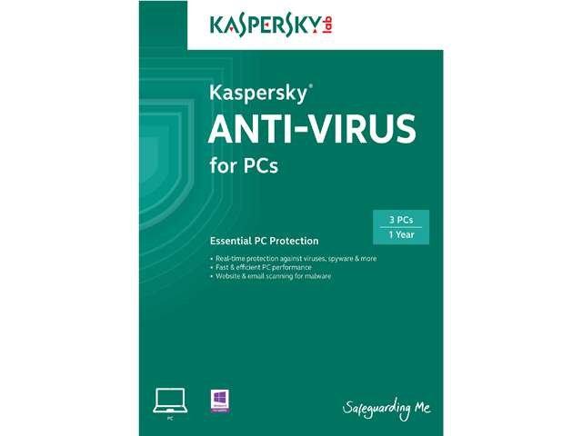 KASPERSKY lab Anti-Virus 2014 - 3 PCs