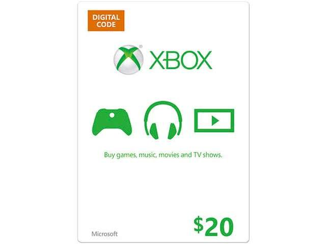 Microsoft Xbox $20 Gift Card (Attach Only)
