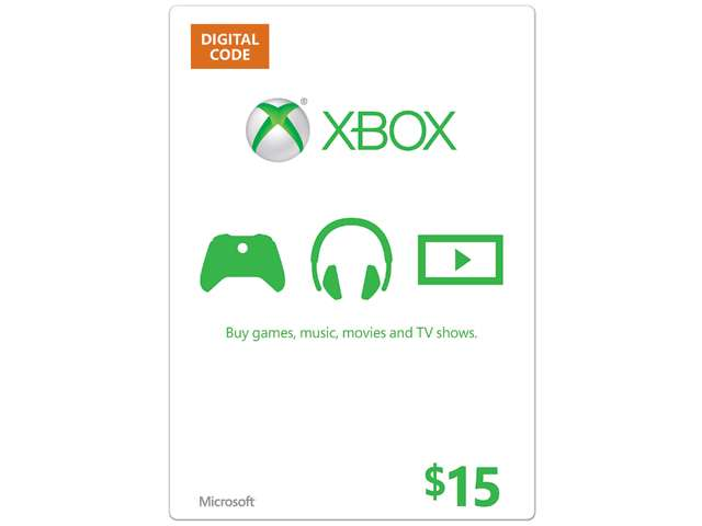 Microsoft Xbox Gift Card $15 US (Email Delivery)
