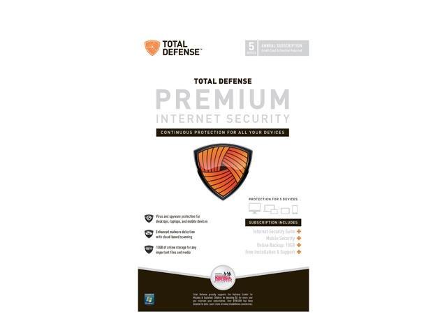 Total Defense Premium Internet Security - 5 User