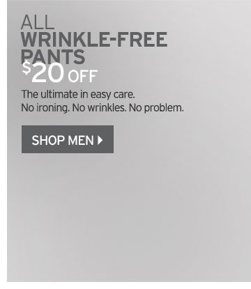 Shop Men's Wrinkle Free Pants