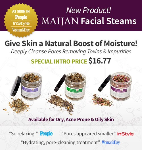 New Product! Maijan Facial Steams