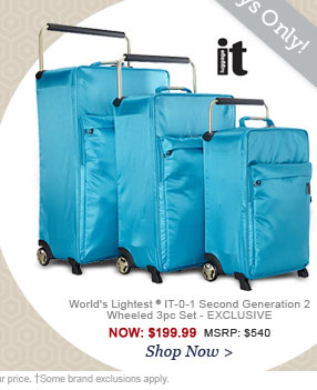 IT Luggage | World's Lightest IT-0-1 Second Generation 2 Wheeled 3pc Set - EXCLUSIVE | Shop Now