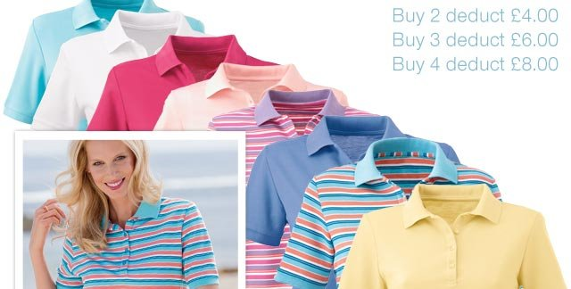 Buy Your Short Sleeved Pique Polo Today - Save £4 when you buy 2 or more
