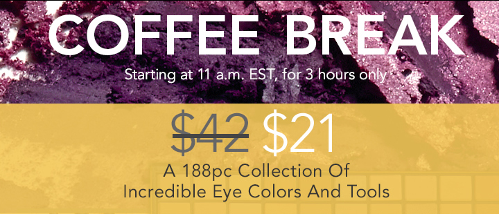 Coffee Break 188pc Collection of Incredible Eye Colors And Tools!