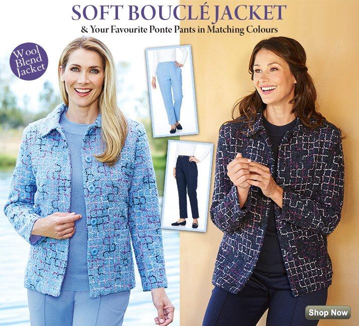 Boucle Jacket and Ponte Pants