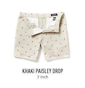 Khaki Paisley Drop