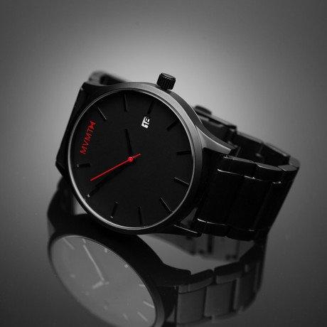 MVMT Watch // Black Face + Black Stainless Steel Bracelet
