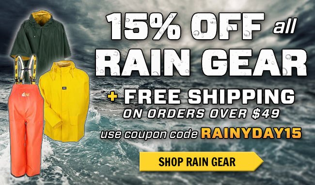 Save 15% OFF All Rain Gear + FREE Shipping This Week!