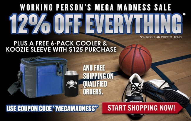 Get 12% OFF Everything + A FREE Cooler & Koozie Sleeve + FREE Shipping This Week!