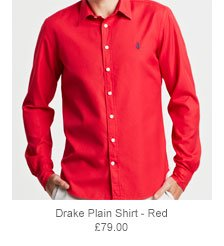 Drake Plain Shirt - Red
