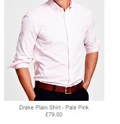Drake Plain Shirt - Pale Pink